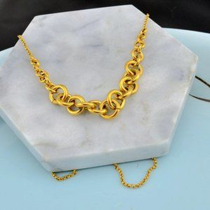 Michael Kors Gold Buckle Necklace